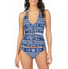 Ambrielle Tie Dye Tankini w/Macrame Center Swimsuit Top Size S, M, L, XL $42.00
