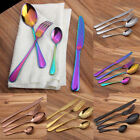 Kitchen Flatware Set Knife Fork Spoon Teaspoon Stainless Steel Cutlery 4Pcs/set