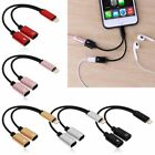 2 in1 Dual 8pin Adapter Headphone Audio Cable Charger Splitter For iPhone 7 Plus