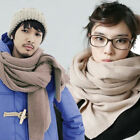 Lovers Scarf Winter Warm Knit Cotton Wool Acrylic Oversized Solid Pashmina Wraps