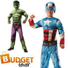 Boys Deluxe Reversible Hulk Captain America Avengers Fancy Dress Childs Costume