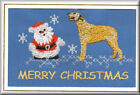 Irish Wolfhound Christmas Card Embroidered by Dogmania