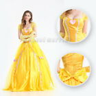 Adult Beauty&The Be Princess Belle Cosplay Costume Sexy Fancy Dress Ball Gown I