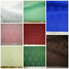 Discount Twill Tablecloth Fabric Jacquard Fleur de Lis Choose Your Color DR