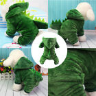 Pet Dog Winter Warm Green Coats Dinosaur Puppy Cotton Thick Clothes Overcoat