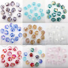 50Pcs Czech Crystal Glass AB Colorful Spacer Bead 8MM Bracelet Necklace Making