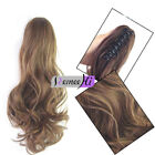 wavy Claw Ponytail Clip in Hair Extensions One Piece Handy Jaw Pony Tail Long