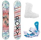 2018 Roxy Sugar w Siren Bindings and Boots Womens Complete Snowboard Package
