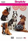 S1031 Simplicity Sewing Pattern Pet Dog Clothing Steampunk Costumes Coats Hat