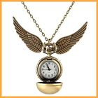 Pendant Necklace Steampunk Quidditch Wings Harry Potter Snitch Pocket Watch Hot