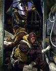 Stirling bomber with a four man crew by Laura Knight. Wall Art . 11x14 Print
