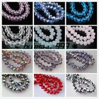 20pcs 14mm Faceted Crystal Glass Rondelle Loose Spacer Beads DIY Jewelry