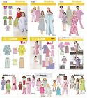 Simplicity Butterick Sewing Patterns Girls' Toddler's PJs Pajama Nightgown Robes