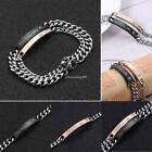 Couple Unisex Jewelry Gifts Chain Titanium Steel Bracelet Wristband Gifts UK