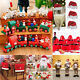 Christmas Ornaments Gifts Xmas Wood Train Wine Glass Caps Santa Pants Shape Bag
