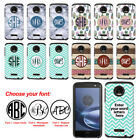 For Motorola Moto Z Force Droid Edition Custom Monogram Letter Bumper Case Cover
