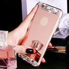 Luxury Bling Crystal Diamond Mirror View Back Case Cover For iPhone 7 6 6s Plus