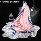 Women Imitate Silk Square Scarf Hostess Stewardess Office Ladies Bandana 70x70cm