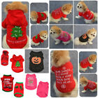 Puppy Dog Cat Coat Jacket Pet Supplies Clothes Winter Apparel Christmas Costume~