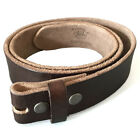 vollleder- Belt for Buckle Dark Brown Lightweight Used Look Size S to XL