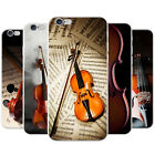 Elegant Wooden Violins Bow & Sheet Music Hard Case Phone Cover for Apple Phones