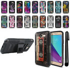 For Samsung Galaxy J7 2017 J7V J727 Hybrid Heavy Kickstand Case Cover + Pen