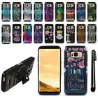 For Samsung Galaxy S8 G950 Hybrid Rugged Heavy Duty Kickstand Case Cover + Pen