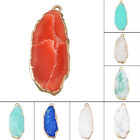 1PC NEW Fashion Teardrop Shap Gemstone Pendant Jewelry 15x37mm