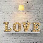 """Metal Battery Operated LED 12"""" Marquee Wall Light Fairground Alphabet Letters OZ"""