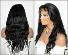 Popular 100% Virgin Human Hair Lace Wigs Natural Black Straight Wavy Silk Top