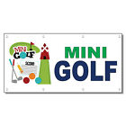 Mini Golf Green Blue 13 Oz Vinyl Banner Sign With Grommets