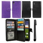 For Alcatel Idol 4 DALK4004 Flip Card Holder Wallet Cover Case Wrist Strap + Pen