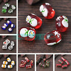 5pcs Assorted Shape Lampwork Glass Charms Loose Spacer Beads Jewelry Findings
