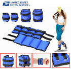 1Pair Adjustable Ankle Weights Pair Running Wrist Arm Gym Leg Exercise Blue New