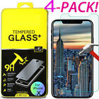 4 X CRAZY Premium Tempered Glass Screen Protector For Apple iPhone 8 7 6 6S Plus