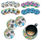 4pc Set Turtles Design Absorbent ROUND Ceramic Stone Coasters Mug Cup Drinks