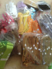 CLEARANCE - Pick your colour mix & qty of ribbon organza Wired / none- 10 - 63mm