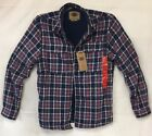 Boston Traders Men's Lined Flannel Shirt Navy Plaid