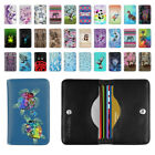 Animal Design Snap Button Leather RFID Blocking Minimalist Bifold Card Wallet
