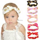 Baby Headband Dot Print Headwear Knot Rabbit Ears Hairband Hair N98B