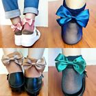 New Women Glitter Bow Knot Girl Low Cut Ankle Mesh Fishnet Net Socks Hosiery