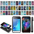 For Samsung Galaxy J1 J120 2nd Gen Hybrid Bumper Protective Case Cover + Pen
