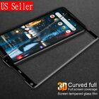 Google Pixel 2 & 2 XL Full Cover Tempered Glass Screen Protector Black (USA)