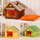 Pet Bed Dog Cat House Portable Puppy Dog Kennel Cave Nest Igloo Pad Cozy Cushion