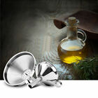 NEW Stainless Steel Large Funnel With Detachable Strainer Kitchen Dining Tools