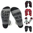 1Pair Womens Men Cotton Socks If You can read this Bring Me a Cold Beer Socks UK