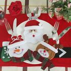 1PCS Christmas Spoon Fork Cover Cutlery Tableware Holder Xmas Knife Bag Case