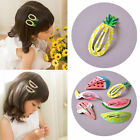 2/10Pcs Fruit Hairpin Baby Girl Hair Clip Watermelon Mini Barrettes Kids Infant