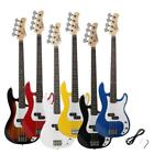 New Glarry 6 Colors Electric 4 Strings Bass Guitar + Cord + Wrench