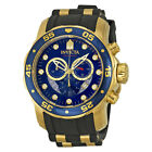 Invicta Mens Pro Diver Swiss Movt 18k Plated Polyurethane Strap Watch